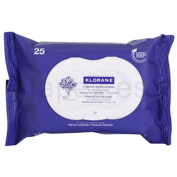 KLORANE-TOALLITAS DESMAQUILLANTES AL ACIANO 25U.