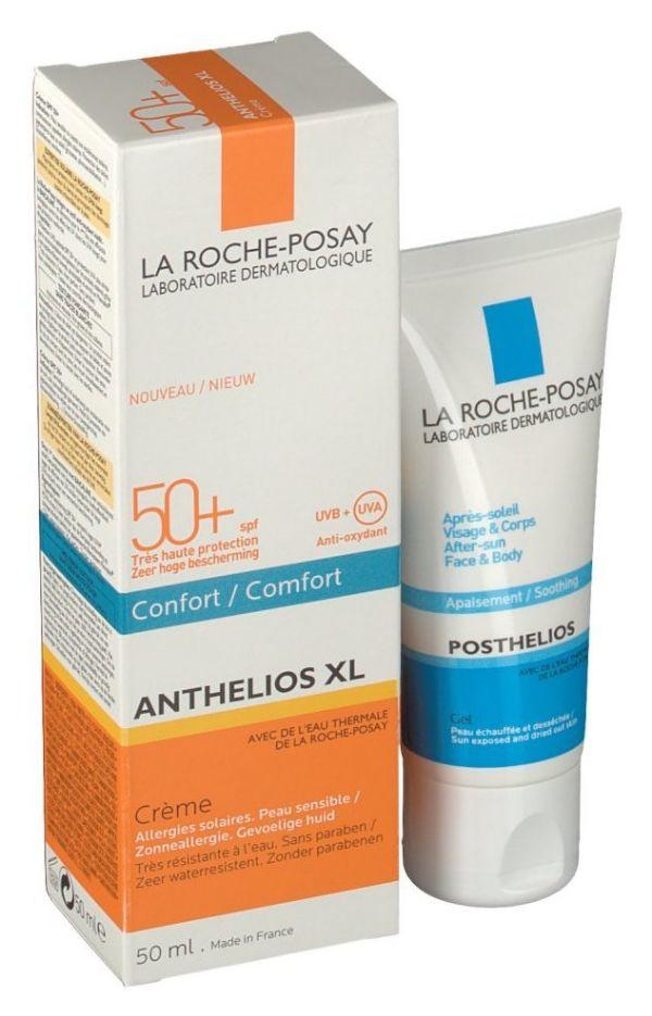 LA ROCHE POSAY ANTHELIOS CREMA CONFORT SPF50 50ML + POSTHELIOS AFTERSUN 40ML