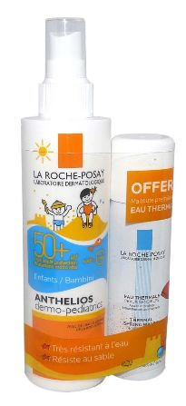 LA ROCHE POSAY ANTHELIOS DERMO-PEDIATRICS IP50+ SPRAY 200ML + EAU THERMAL 50ML