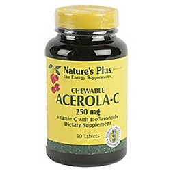 NATURES PLUS ACEROLA C 250MG 90 COMP. MASTICABLES