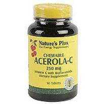 NATURES PLUS ACEROLA C 250MG 90 COMPRIMIDOS MASTICABLES