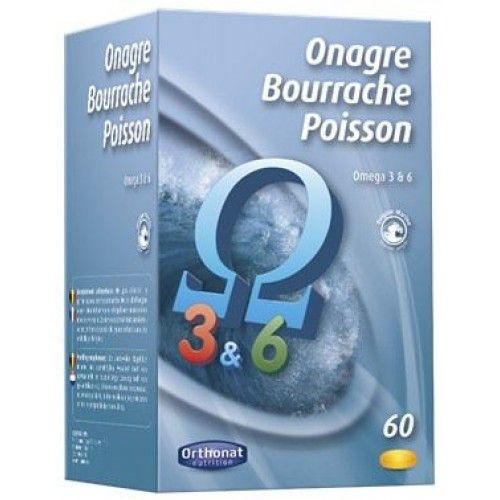 ORTHONAT ONAGRE BOURRACHE POISSON 60 CAPS.