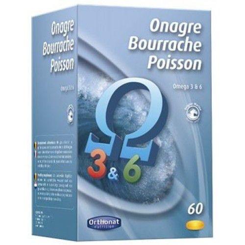 ORTHONAT ONAGRE BOURRACHE POISSON 60 CAPSULAS