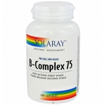 SOLARAY B-COMPLEX 75 100 CAPSULAS