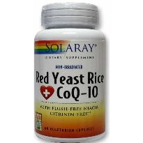 SOLARAY RED YEAST RICE COQ-10 60 CAPSULAS
