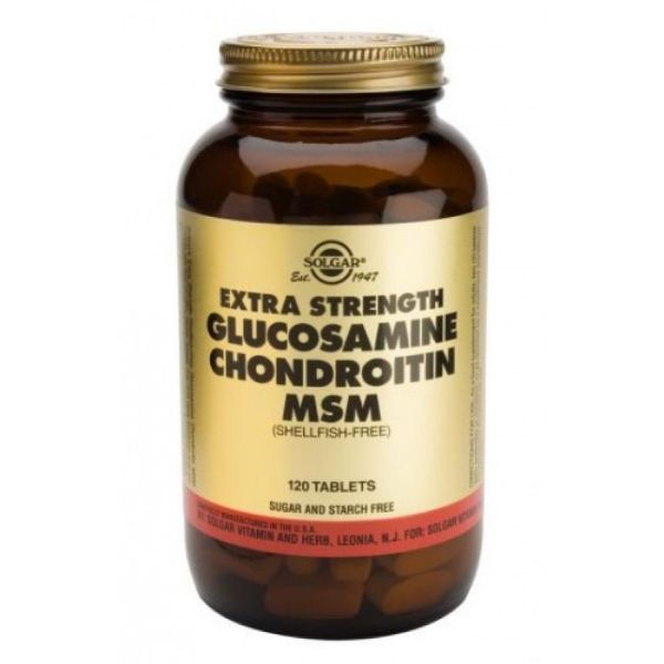 SOLGAR GLUCOSAMINA CONDROITINA MSM 120 TABS