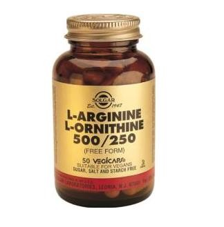 SOLGAR L-ARGININA L-ORNITINA 50 CAPSULAS