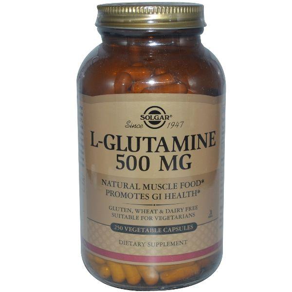 SOLGAR L-GLUTAMINA 500MG 250 CAPS