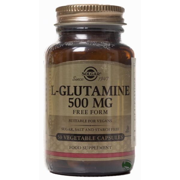 SOLGAR L-GLUTAMINA 500MG 50 CAPS