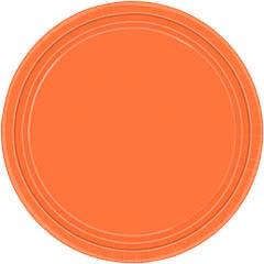 Platos Naranja lisos 22,90 cm, Pack 8 u.
