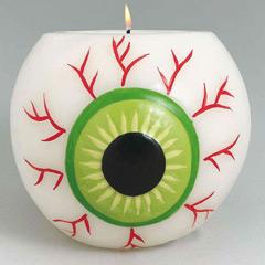 Decoración Halloween vela ojo