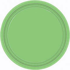 Platos Verde kiwi lisos 22,90 cm, Pack 8 u.
