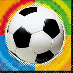 Servilletas Fútbol 33 x 33 cm, Pack 16 u.