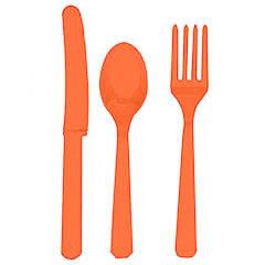 Cubierto de plástico naranja