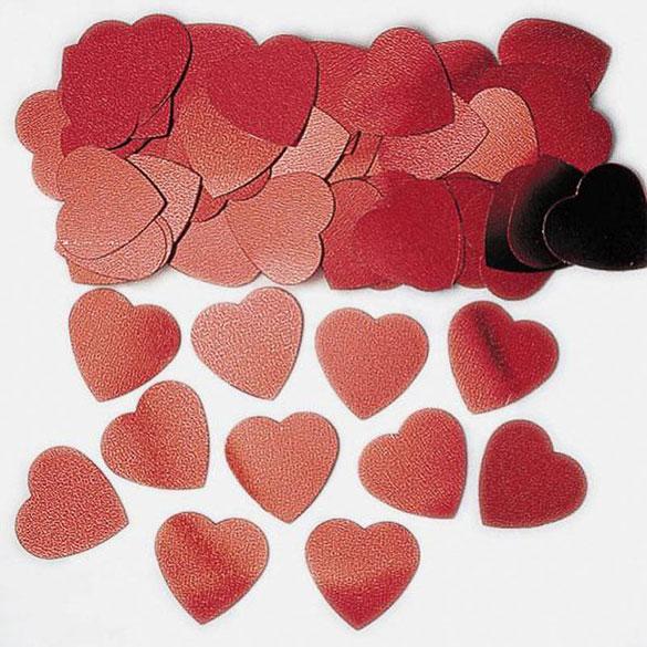 Confeti metálico corazones