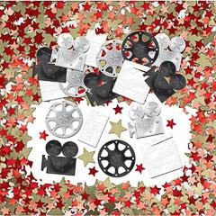Confeti metálico cine