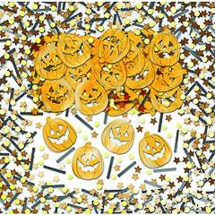 Confeti metálico calabazas Halloween