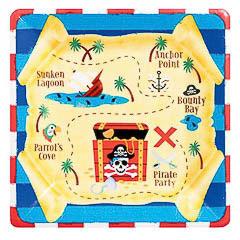Pack 8 Platos piratas