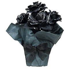 Macetero rosas negras. Decoración Halloween