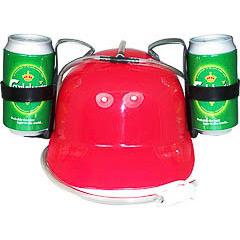Casco porta latas rojo