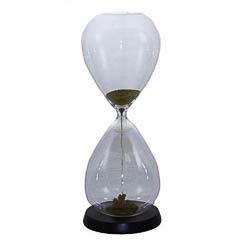 Reloj de arena imantada de color oro