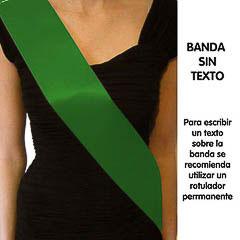 Banda sin texto lisa verde