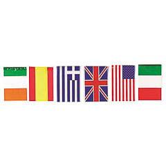 Guirnalda banderas internacionales plástico