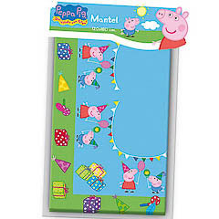 Mantel Peppa Pig 180 x 120 cm plástico, Pack 1 u.