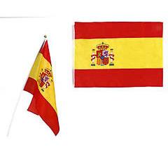 Bandera de España con palo grande