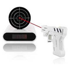 Reloj despertador pistola Láser