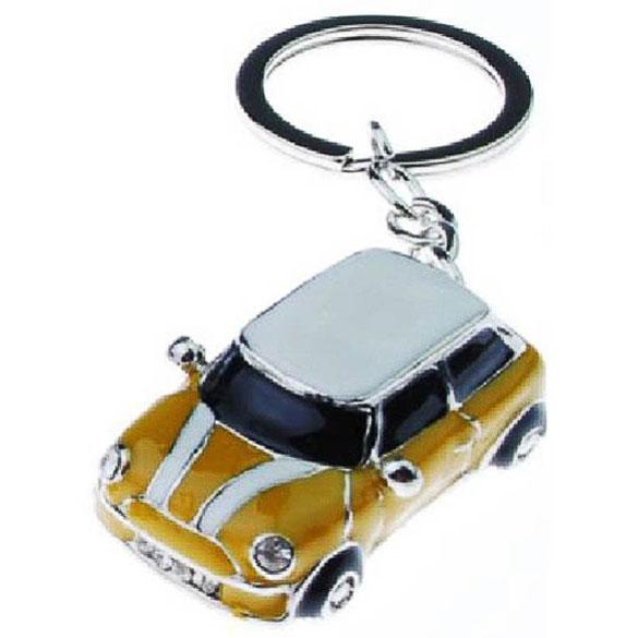 Llavero coche Mini Cooper amarillo