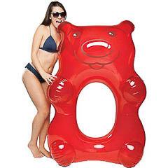 Flotador gigante modelo oso rojo