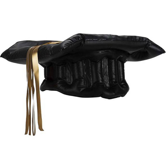 Birrete graduado inflable