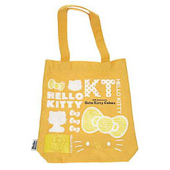 Bolsa de lona Hello Kitty de color amarillo