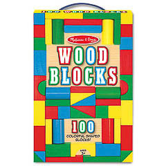 Juego construcción educativo formas de madera