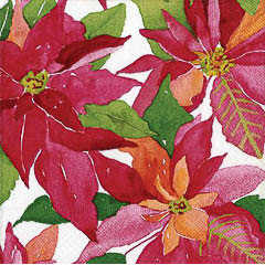 Pack 20 servilletas Navidad flor de pascua cena