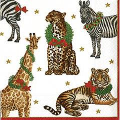 Pack 20 servilletas Navidad 33 x 33 cm jungla