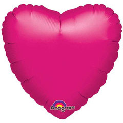 Globo Corazón fucsia