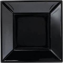 Platos Negros lisos 23 x 23 cm, Pack 8 u.