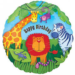 Globo Jungla Happy Birthday
