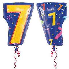 Globo Nº 7 con forma número