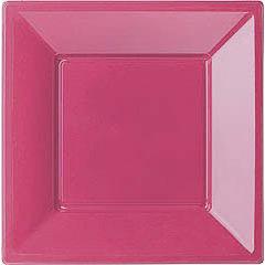 Pack 6 Platos magenta 18 x 18 cm
