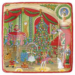 Platos Circo Ballet Navidad 18,30 cm, Pack 8 u.