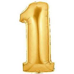 Globo Nº 1 con forma dorado