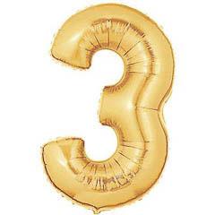 Globo Nº 3 con forma dorado