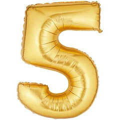 Globo Nº 5 con forma dorado