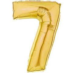 Globo Nº 7 con forma dorado