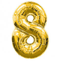 Globo Nº 8 con forma dorado