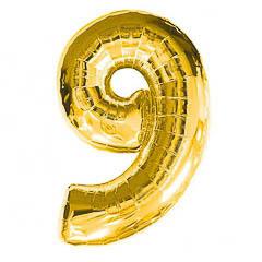 Globo Nº 9 con forma dorado