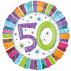 Globo metálico 50 años
